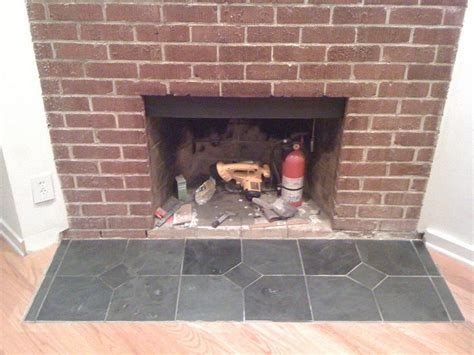 Slate Fireplace Hearth by Slate Hearth Ready For Sealing Doityourself