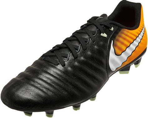 Nike Tiempo Ligera Iv Fg Black Orange nike tiempo ligera iv fg black nike soccer cleats