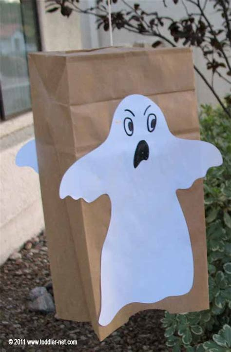 Paper Bag Ghost Craft - paper bag ghost craft