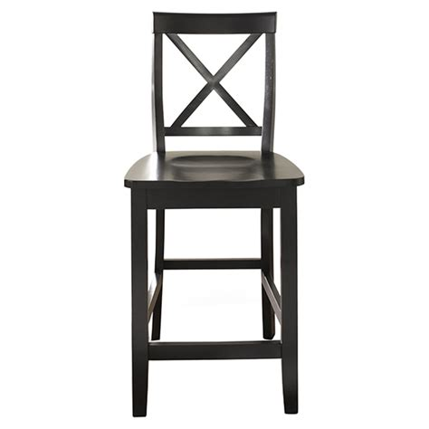 24 quot x back counter stool in black finish cf500424 bk x back bar stool with 24 inch seat height black set of