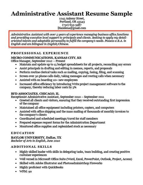 Assistant Resume Objective by Resume Objective Exles For Students And Professionals Rc