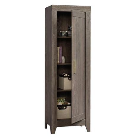 Sauder Storage Cabinet Sauder Adept Storage Cabinet In Fossil Oak Ebay