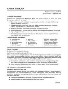 Exles Of Nurses Resumes by Careerperfect 174 Healthcare Nursing Sle Resume