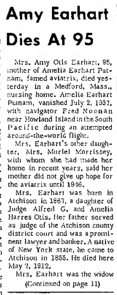 Amelia Otis Earhart Also Search For Amelia Otis Earhart Person Pictures And Information Fold3