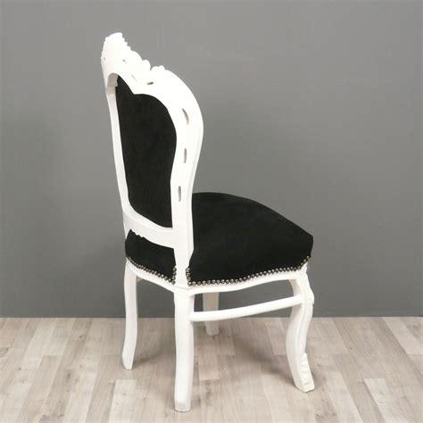 chaise blanche et noir chaise baroque et blanche fauteuils baroques