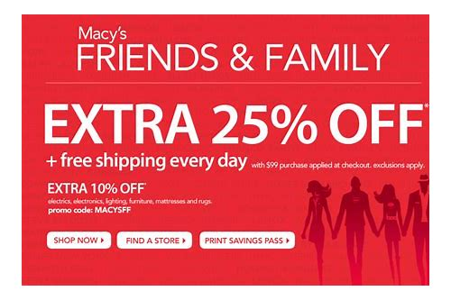 macy's friends and family coupon exclusions
