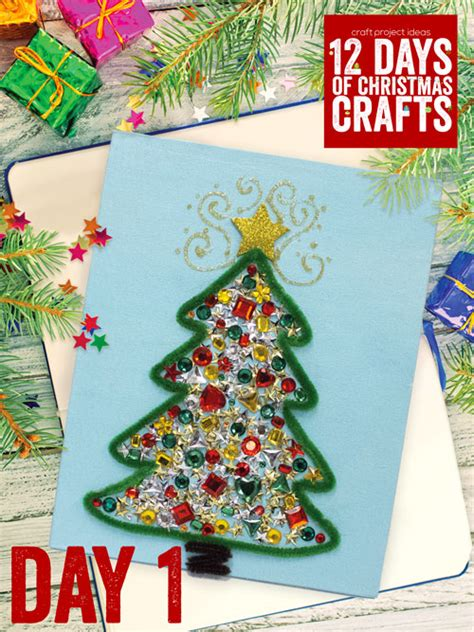 twelve days of christmas crafts 12 days of crafts day 1 craft project ideas