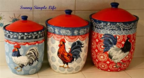 canisters kitchen decor simple chickens in kitchen decor