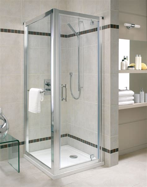 Twyford Shower Doors Twyford Geo6 Pivot Shower Enclosure Door 760mm G63100cp