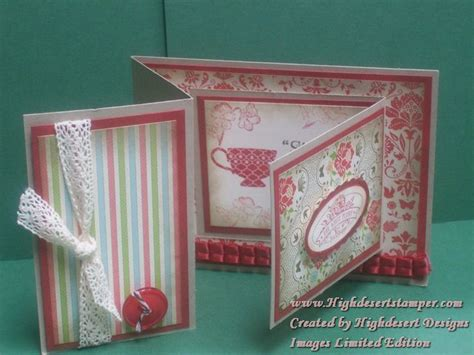 accordion gate fold card template fancy fold what 187 highdesert ster artistic