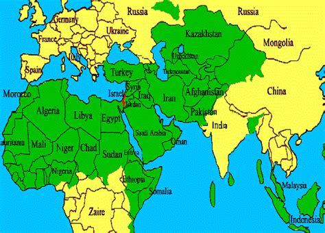 world map image israel what truly scares the hell out of a muslim is