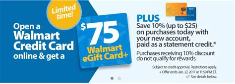 Walmart E Gift Cards Online - walmart credit card up to 100 signup bonus doctor of credit