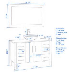 bathroom vanity height with vessel sink cambridge plumbing 48 modern single vessel sink bathroom
