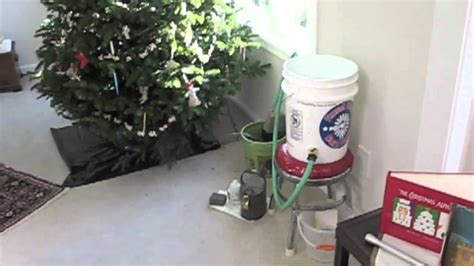 christmas tree watering present auto tree watering mov
