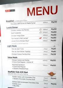 Light Supper Ideas Airasia Airline Dining Amp Flight Meals Menu Philippines