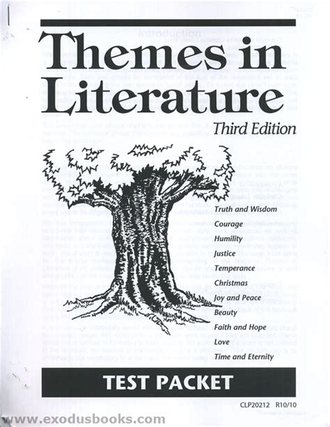 themes in literature book themes in literature test packet old exodus books