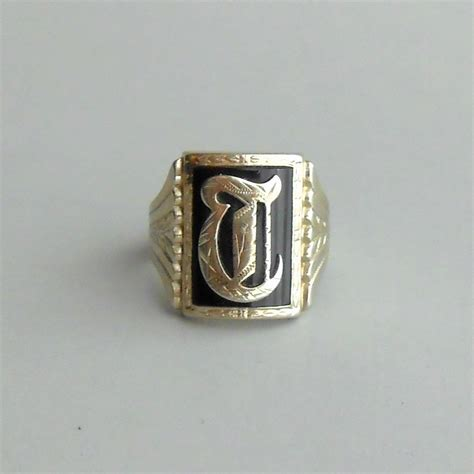 reserved layaway payment antique mens ring 10k