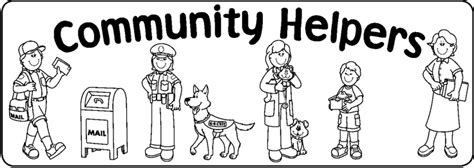 Community Helpers Clipart Black And White 6 Clipart Station Coloring Book Cover L