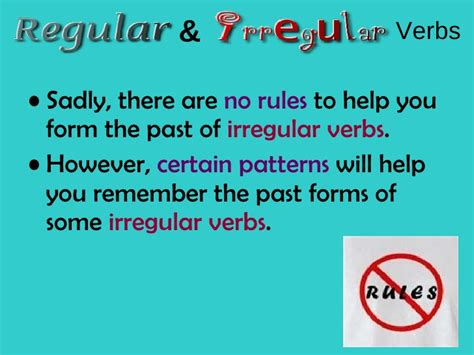 pattern verbs remember regular and irregular verbs
