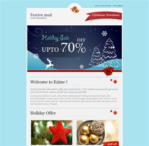 design newsletter header this christmas email newsletter template features 2 header