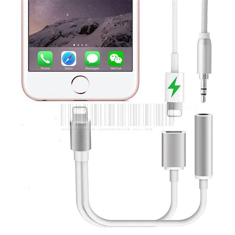 Charger Plus Headset Oc Iphone 2 in 1 for lightning 3 5mm charging audio adapter for iphone 7 plus headphone earphone