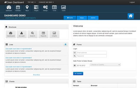 bootstrap intranet template best responsive admin templates