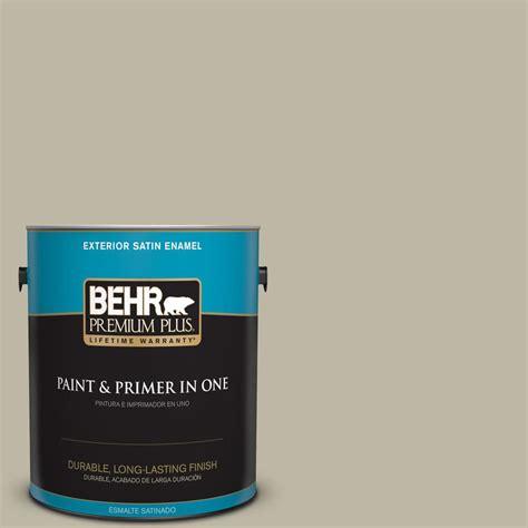 behr premium plus 1 gal 780d 4 koala satin enamel exterior paint 940001 the home depot