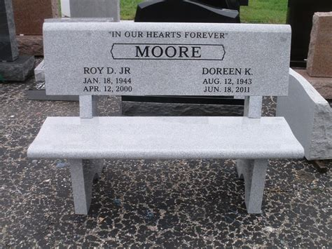 stone memorial bench cemetery grave stone granite memorial bench back engraving