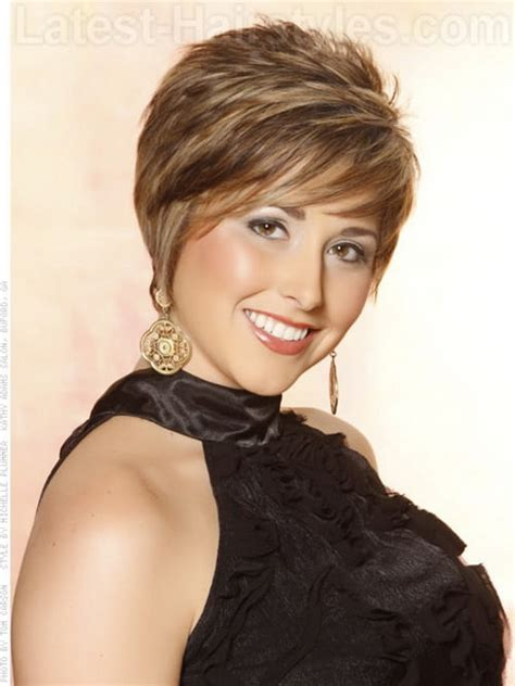 hairstyles in way feathered hairstyles for short hair