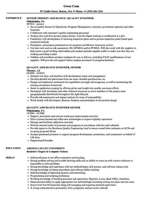 senior quality engineer sample resume ajrhinestonejewelry com