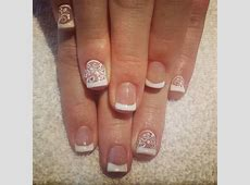 20+ White Nail Art Designs, Ideas | Design Trends ... French Tip Nail Designs With Glitter