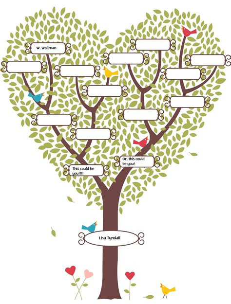 fill in the blank family tree template fill in the blank family tree lds