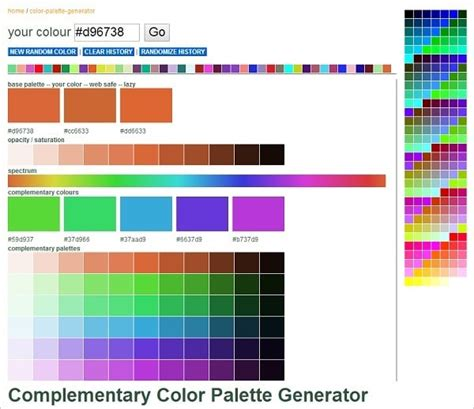 colour palette maker color palette generator 2015 home