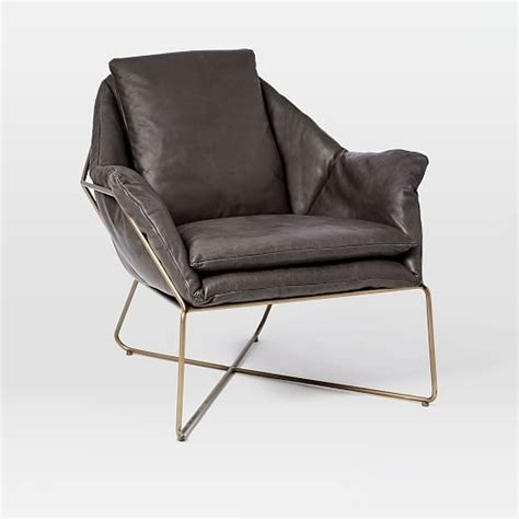 Leather Lounge Chair origami leather lounge chair west elm