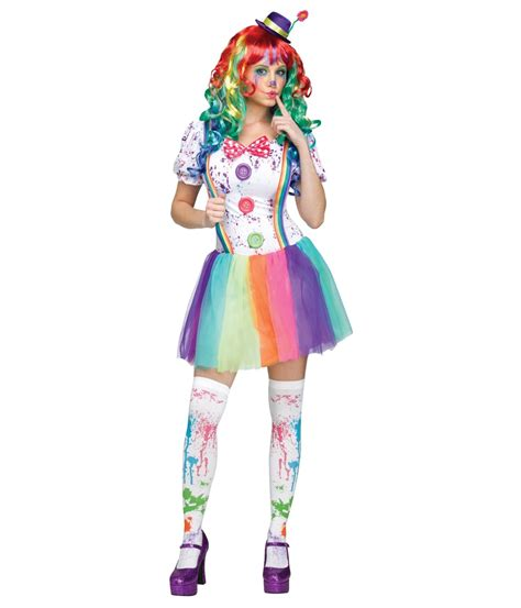 color fun clown hun womens costume clown costumes