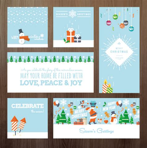 2015 new year greeting card template 2015 xmas and new year greeting cards kit vector 576922