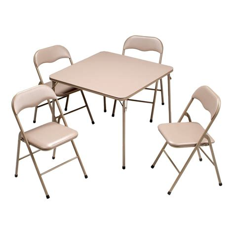 folding table and chairs set folding table chair set linon space saver 5 pc folding