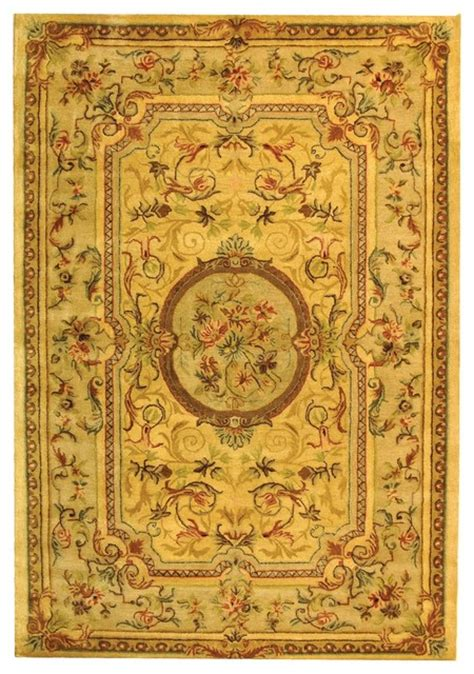 Yellow And Brown Area Rugs Bergama Yellow Brown Area Rug Brg168a Traditional Area Rugs By Zopalo