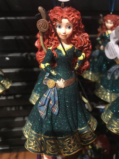 merida christmas ornament disney parks princess merida brave glitter resin ornament ne
