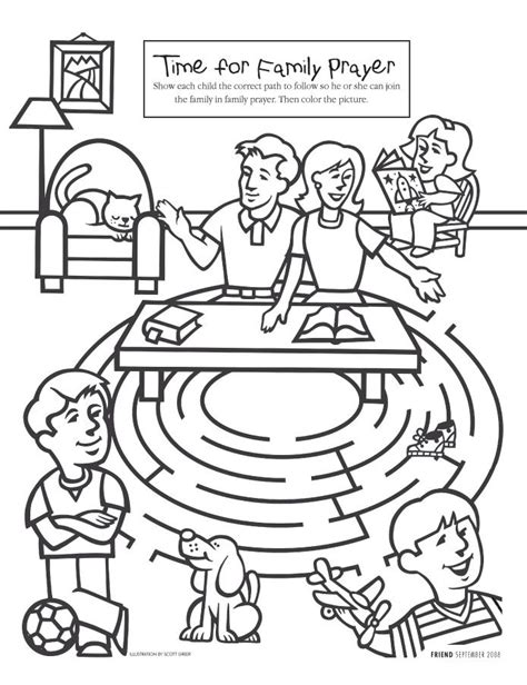 lds coloring pages enos 32 best images about fhe prayer on pinterest