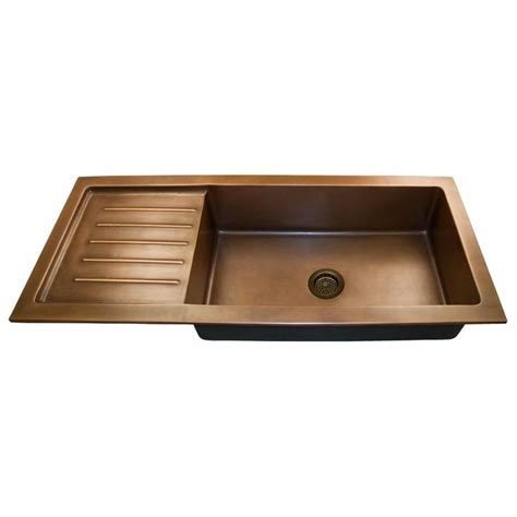 Raised Kitchen Sink 54 Quot Copper Undermount Sink With Drain Board Raised