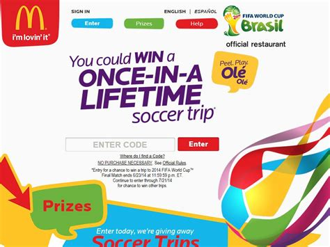 Mcdonalds Online Sweepstakes - mcdonald s 2014 peel play ol 233 ol 233 game and online sweepstakes