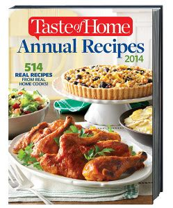 taste of home annual recipes cookbook 2014 review