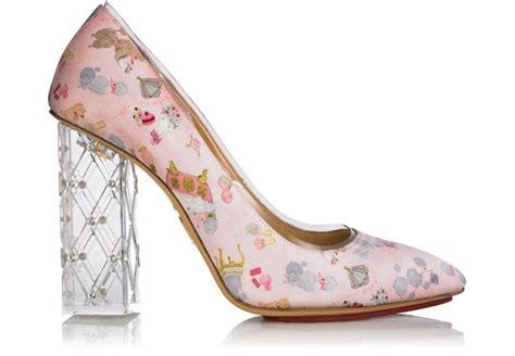 Clear Wedding Shoes by Whimsical Printed Wedding Shoes With Clear Heel Onewed