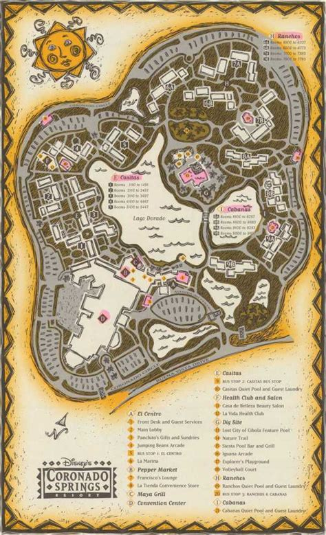 coronado springs resort map wdw coronado springs resort map
