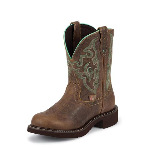 womans justin boots s justin 174 8 quot cut pull boots 582157