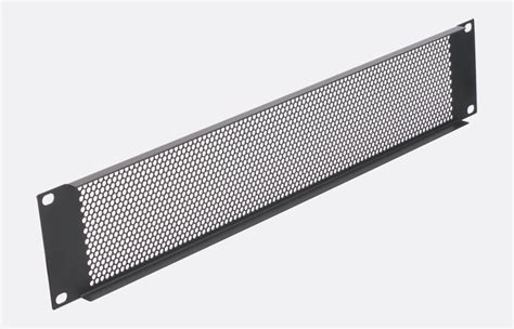 Rack Ventilation by Rackvent Rack Ventilation Panel 1u Steel Perforated