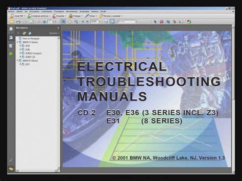 bmw e30 e31 e36 electrical troubleshooting manual