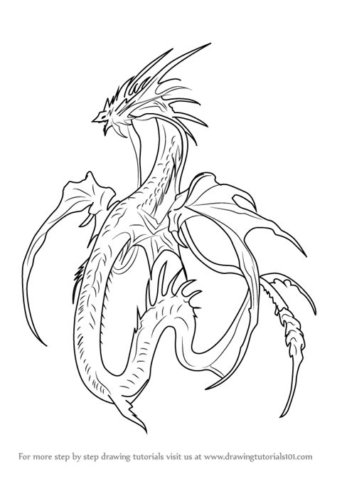 Learn How to Draw Leviathan (Sea Monsters) Step by Step