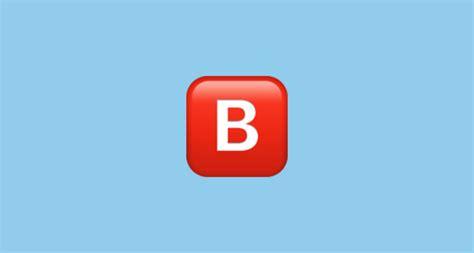 negative squared capital letter b emoji